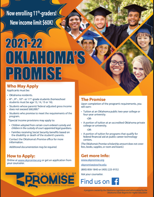 PDF of Oklahoma's Promise Flyer opens at okhighered.org