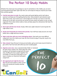 PDF of The Perfect 10 Study Habits